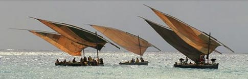 Lateen rigged boats from Mozambique