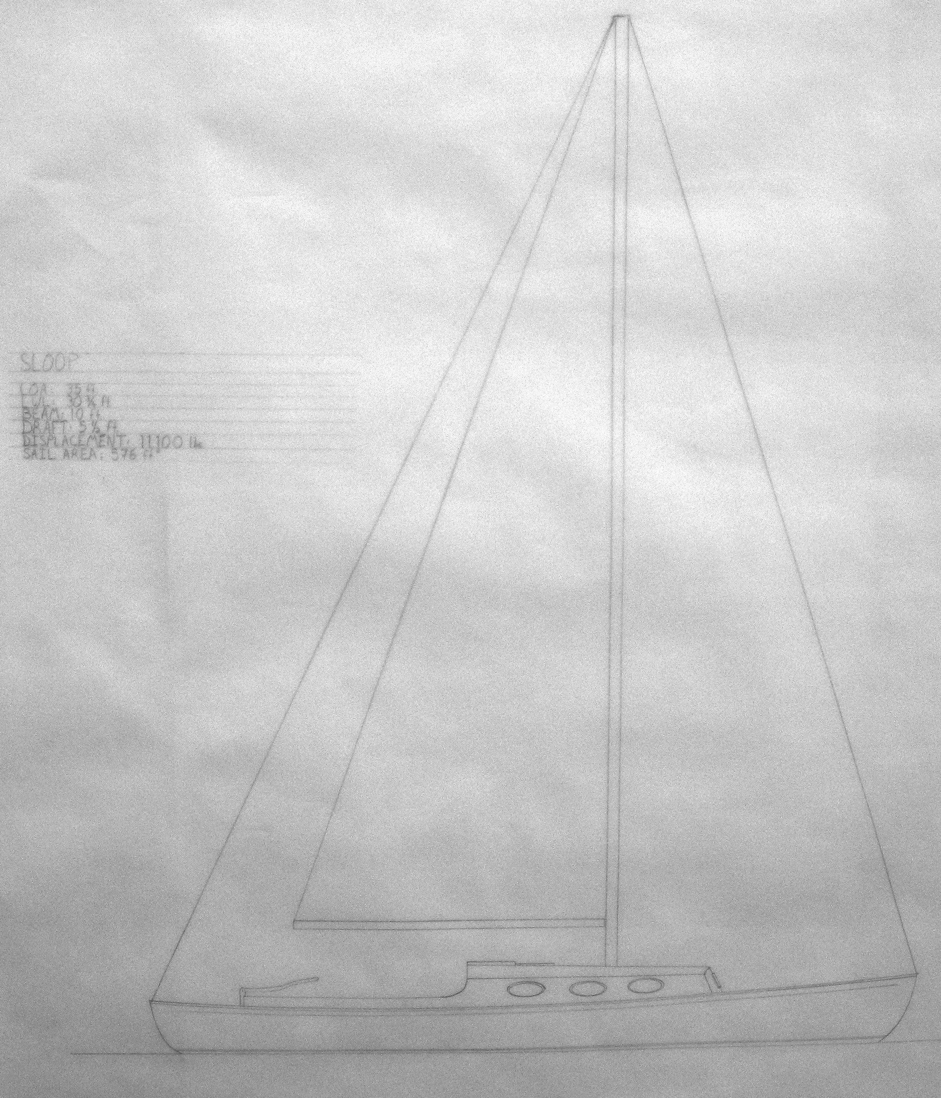 Sloop LiLo,in profile