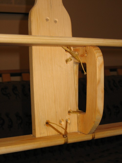 Ama - frame detail, with lashings