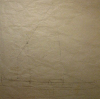Sail plan for the skin-on-frame outrigger canoe