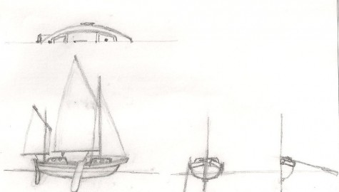 Canoe yawl design idea