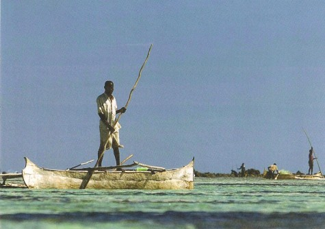 Nice Malagasy outrigger canoe