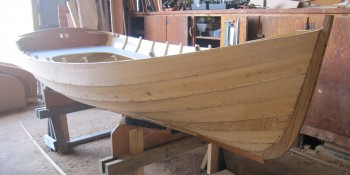 A day of boatbuilding fun! Working on the North Shore Sailing Skiff at CBMM.