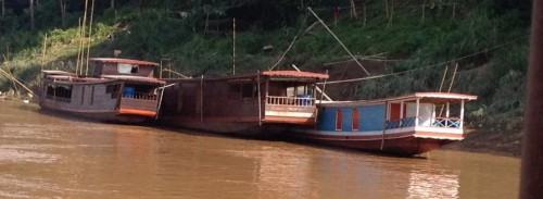 Traditional Vietnamese boats on the Mekong