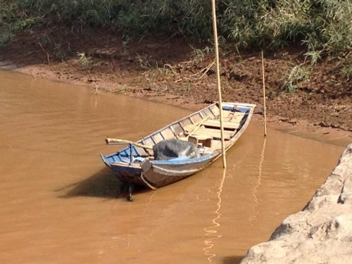 Traditional small Vietnamese rowing boat
