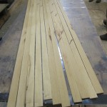 Mahogany strips for lamination