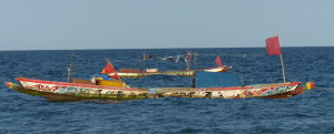 Surf fishing boats of The Gambia