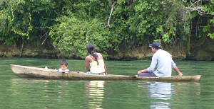 Dugout canoe on Rio Dulce, Livingstone