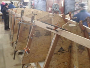 PINTAIL frames with chine logs