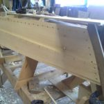 Simple skiff under construction