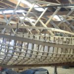 Mackinaw boat under construction
