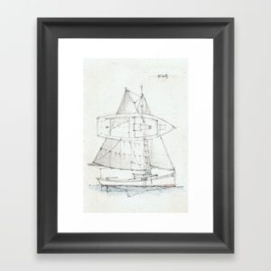 Framed print - 26' Sharpie Sloop