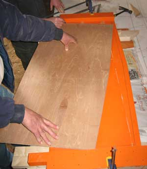 Centerboard pattern being fit
