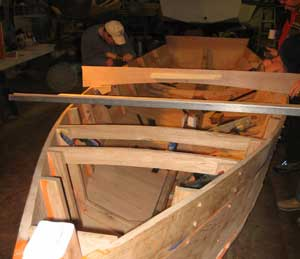 Skiff looking aft