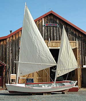 Two-masted crabbing skiff