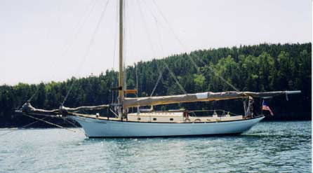 Friendship Sloop at anchor
