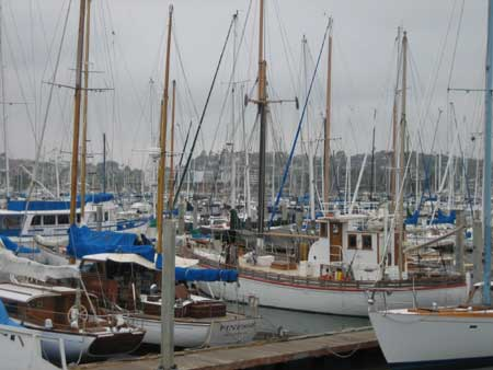 Wooden boats at the docks
