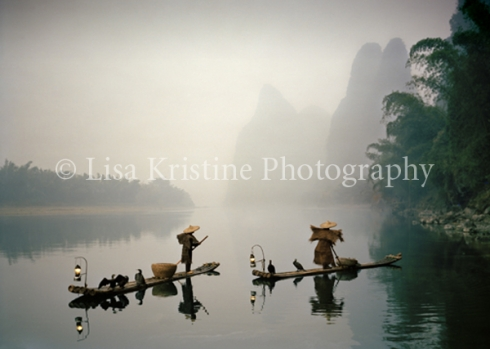 Bamboo rafts in China
