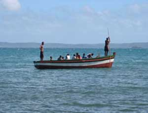 Traditional Malagasy fishing boat
