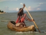 Dugout canoe in Lake Malawi