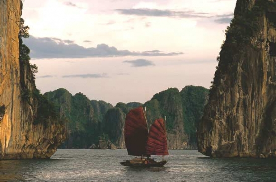 Sail craft of Ha Long Bay