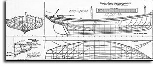 Howard Chapelle's Kingston Lobsterboat from American Small Small Craft