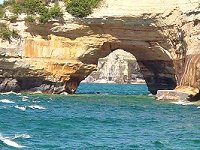 Pictured Rocks National Lakeshore - natural bridge